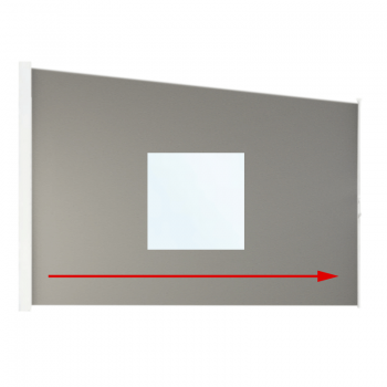 Seitenrollo 800 schräg mit Fenster